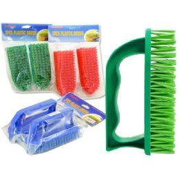 72 Units of HAND BRUSH 2PCS - Scouring Pads & Sponges