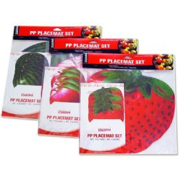 "72 Units of PLACEMAT FRUIT 4+411.5X11.5"" - Placemats"