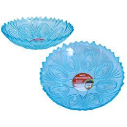 48 Units of crystal like round bowl blue - Plastic Dinnerware