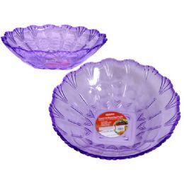 48 Units of crystal like round bowl purple - Plastic Dinnerware