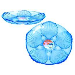 48 Units of crystal like round tray blue - Plastic Dinnerware