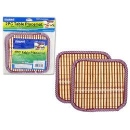 96 Units of 2pc Bamboo Coaster Hot Pads - Coasters & Trivets