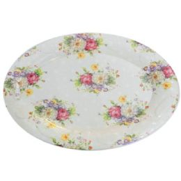 48 Units of oval tray flower design - Serving Trays