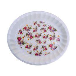 48 Units of deep tray asst flower design - Serving Trays