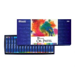 36 Units of BAZIC 18 Color Oil Pastel - Chalk,Chalkboards,Crayons