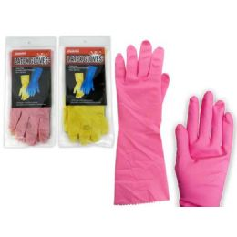 144 Units of LARGE RUBBER GLOVE - Kitchen Gloves