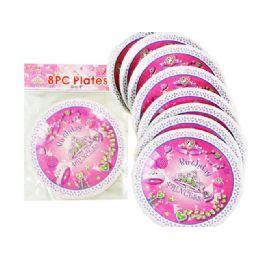 """144 Units of Plates 9"""" 8pc/set Princess Des - Party Paper Goods"""