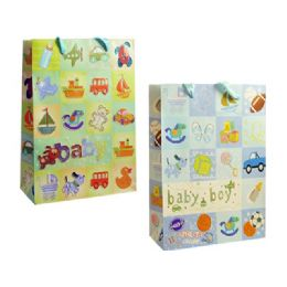144 Units of Bag Xxl Bb Gl 44.3x32.3x10.5 2asst Design - Gift Bags