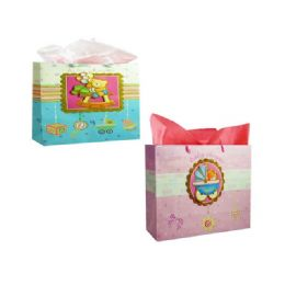 144 Units of Bag Hl Bab 3d 36x27x12.5 3asst Design - Gift Bags