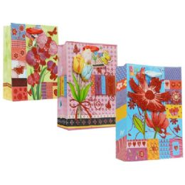 144 Units of Bag Xlarge Floral Assorted - Gift Bags