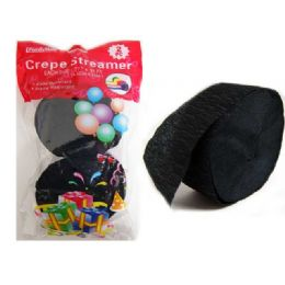 96 Units of Streamer 2pc Black Clr 1.77*81ft Packing 1/pc - Streamers & Confetti