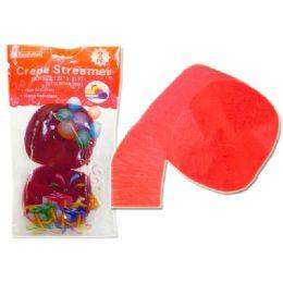 96 Units of Streamer Red 2pc 4.5x25cm - Streamers & Confetti