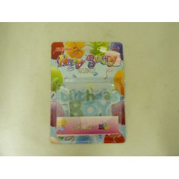 144 Units of CANDLE HAPPY B'DAY BOY & GIRL - Candles & Accessories