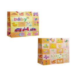 144 Units of Gift Bag Baby Design 2 Assorted - Gift Bags Baby