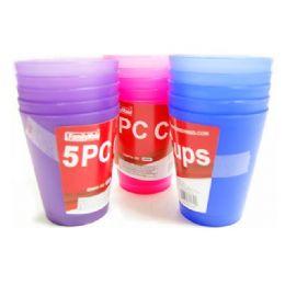 72 Units of 5 pc  8 oz tumblers - Plastic Drinkware