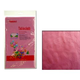 """96 Units of TABLECLOTH 54X108"""" PINK - Table Cloth"""