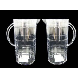 24 Units of WATER PITCHER CLEAR - Plastic Drinkware