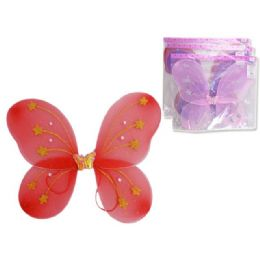 "144 Units of ANGEL WING 15X13.75"" W/ GEMOPP+UPC. PINK RED PURPLE - Costumes & Accessories"