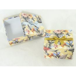 """48 Units of Paper Box Sq 6.3""""x6.3""""x3.35""""flower Design - Boxes & Packing Supplies"""