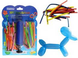 96 Units of Balloons 30 Twisty With Air Pump Included - Balloons & Balloon Holder