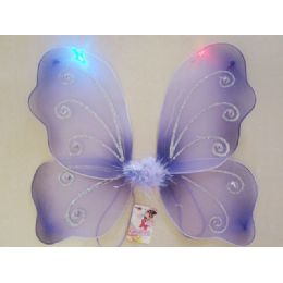 144 Units of BUTTERFLY WING W/LIGHT - Costumes & Accessories
