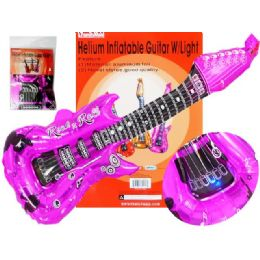 "288 Units of Helium Inflatable Guitar W/ligasst Color 11.8""x33.1"" - Inflatables"