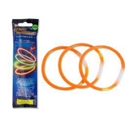 "144 Units of Glow Stick 3pc 8""x 0.2"" - Novelty Toys"