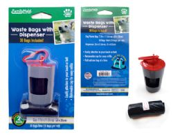 144 Units of Dog Poop Bag 2pc+canister W/ C - Pet Collars and Leashes