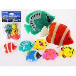 144 Units of Fish Decoration 6pc/pk Asst - Fishing Items