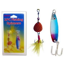96 Units of FISHING SPINNERS 2PC /SET 19117 3PC - Fishing Items