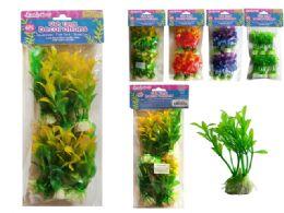 144 Units of 6 Piece Fish Tank Tree Decoration - Fishing Items