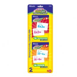 48 Units of Bazic 36 Ct. Multiplication & Division Mini Flash Card (2/pack) - Novelty Toys