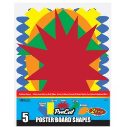 96 Units of 5 Pre-Cut Poster Board Shapes - Poster & Foam Boards