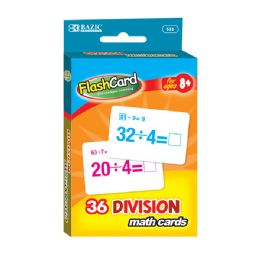 48 Units of Bazic Division Flash Cards (36/pack) - Teacher & Student