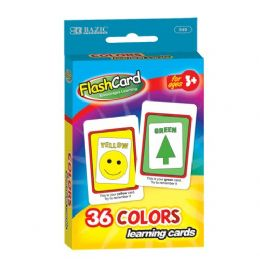 48 Units of BAZIC Colors Preschool Flash Cards (36/Pack) - Teacher & Student