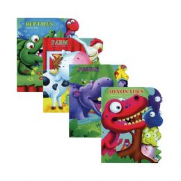 48 Units of Learning Animal Board Book w/ Tab - Educational Toys