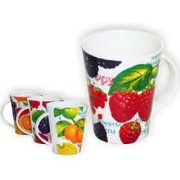 "36 Units of Mug Fruit 3.4diax4.3""h - Coffee Mugs"