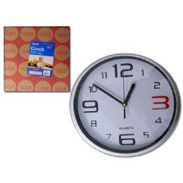 """24 Units of Clock 9.8x2.2"""" 4asst Clr - Wall Decor"""