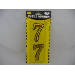144 Units of House Number 2pcs In Card - Hardware Miscellaneous