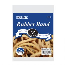 72 Units of BAZIC 2 Oz./ 56.70 g #64 Rubber Bands - Rubber Bands