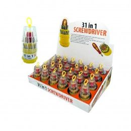 72 Units of 31 in 1 Screwdriver Set on Counter Display - Screwdrivers and Sets
