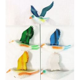 72 Units of Garden Stake Decoration Dove Piegon Assorted Colors - Garden Decor