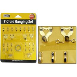 144 Units of Picture Hook Kit 28pc W/blister - Hardware Miscellaneous