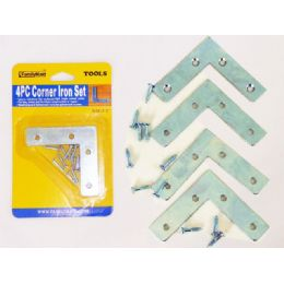 96 Units of 4pc Corner Braces With Screws - Drills and Bits