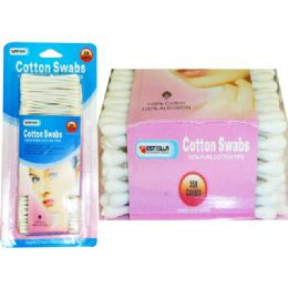 72 Units of COTTON SWAB 350 COUNT HAPPYSWEETIE - Cotton Balls & Swabs