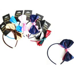 144 Units of Hair Band W/ Butterfly Bow - Hair Fancy Clips