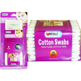 72 Units of COTTON SWAB 450 COUNT ESTELLA - Cotton Balls & Swabs