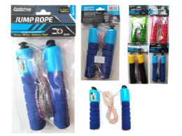 144 Units of Jump Rope 2.66m Long W/handlepink,green,blue,yellow Clr - Jump Ropes