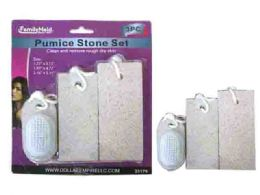 72 Units of 3 Piece Pumice Stone With Scrub - Personal Care Items