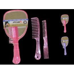 72 Units of Mirror+comb Set 2pcs Pls - Hair Brushes & Combs